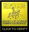 Website Excellence Award Of Honor May 19, 1999.
